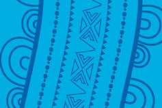 Indigenous Australia line design – light and dark blue