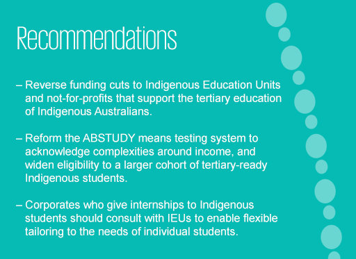 Recommendations for improvement of education for Indigenous millennials