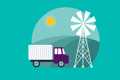 Agriculture supply chain illustration