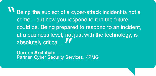Cyber security quote by Gordon Archibald, Partner, Cyber Security, KPMG