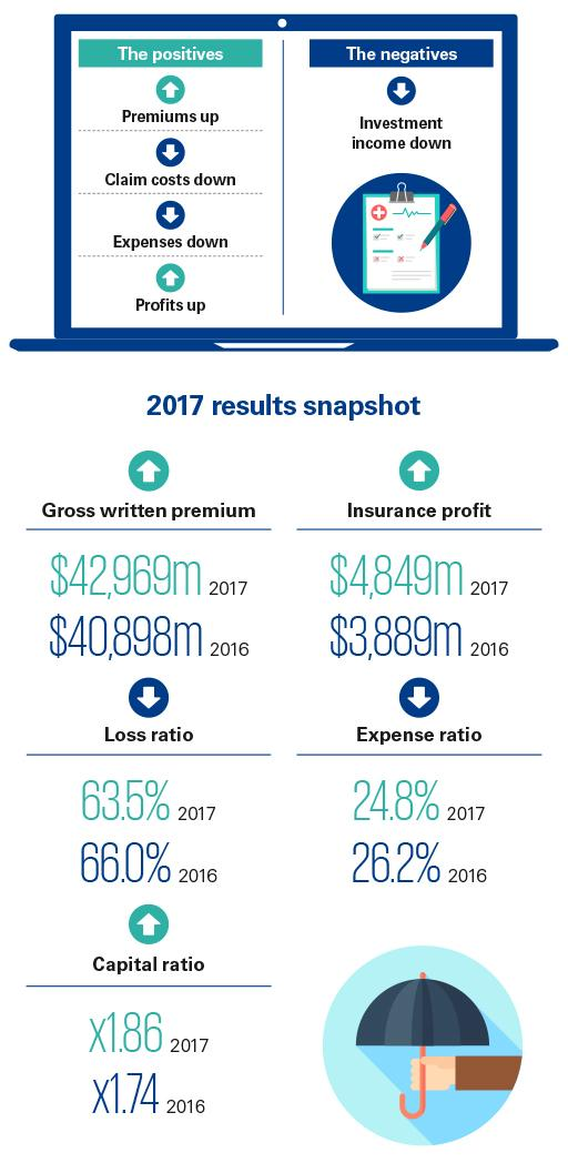 General Insurance Industry Review 2017 - infographic