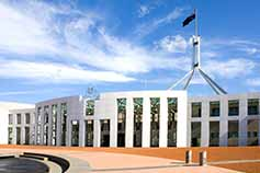 Parliament house in Canberra during daytime