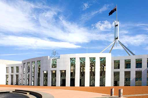 Australia Parliament house in Canberra