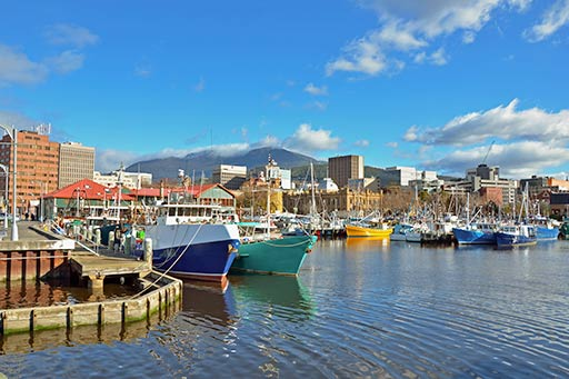 Fishing boats Hobart harbour