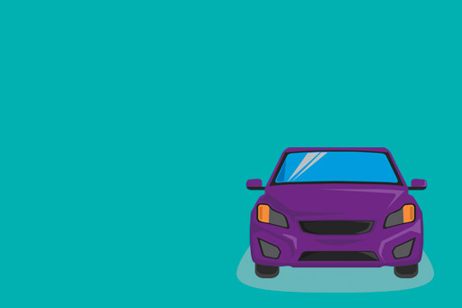 Purple car illustration