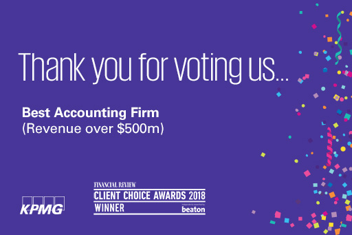Financial Review Client Choice Awards 2018