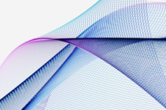 Abstract image of a blue and purple swirl on a white background