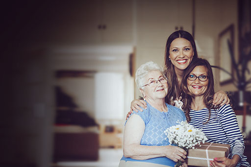 Three women from three generations