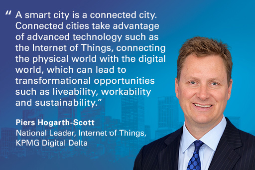 Quote from Piers Hogarth-Scott on smart cities
