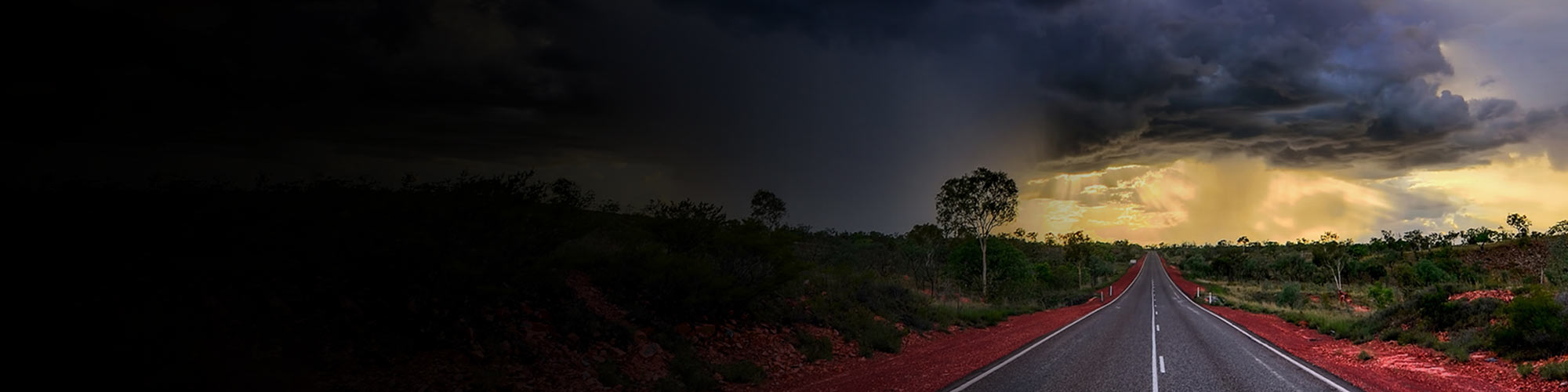 Gathering storm clouds in outback Australia