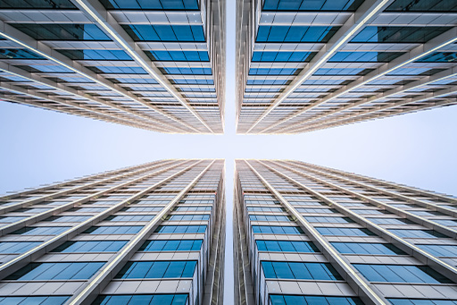 Low angle view of an office building