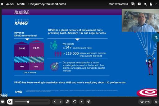 KPMG stays connected with the students through webinar sessions
