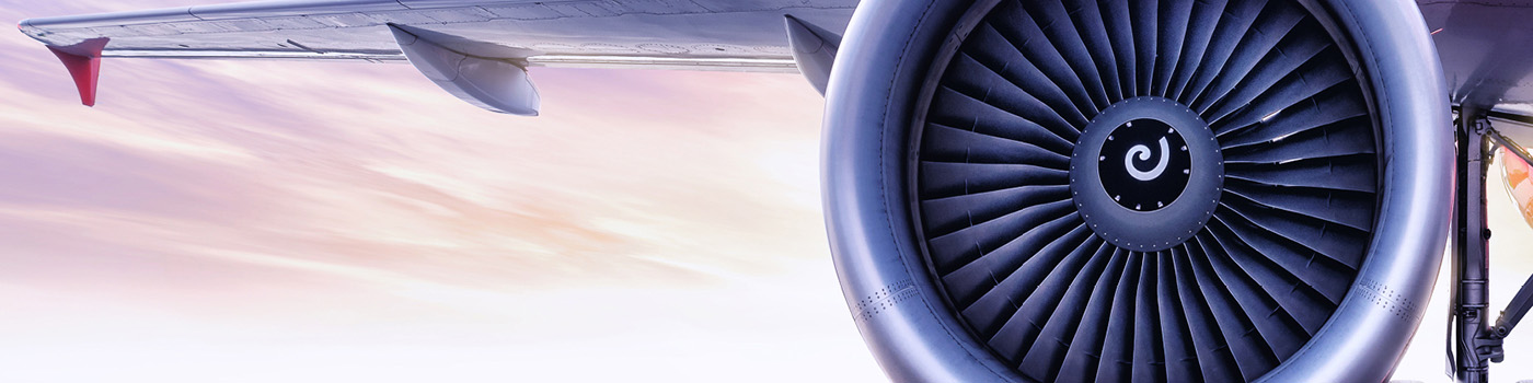 Close up of airplane wing
