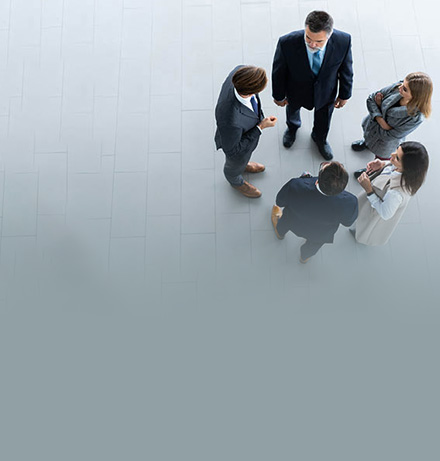 business people meeting in a circle