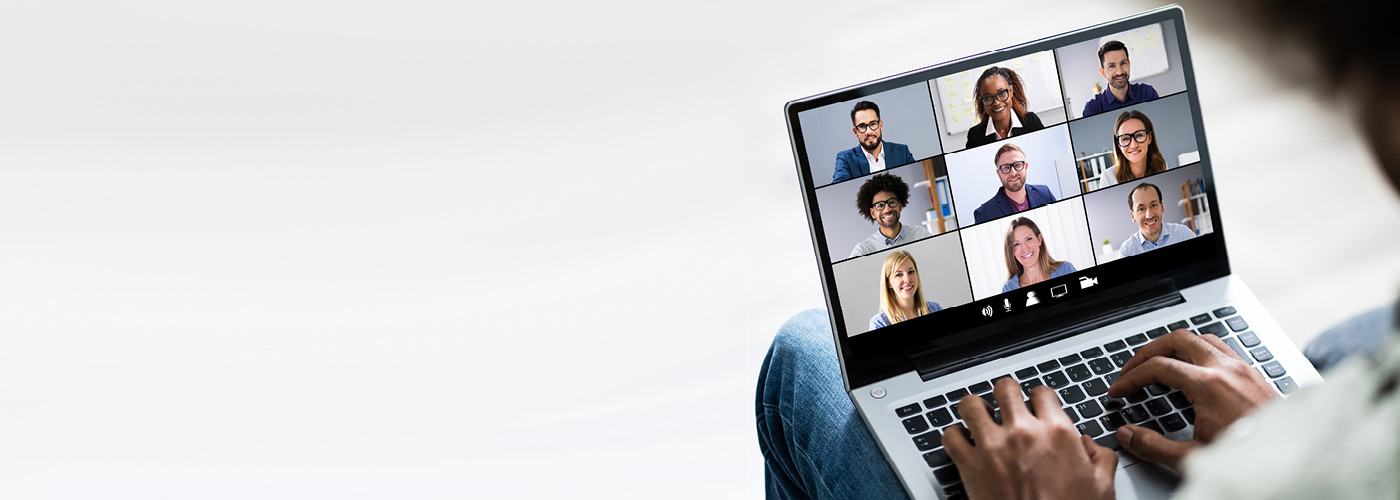 Videocall on laptop