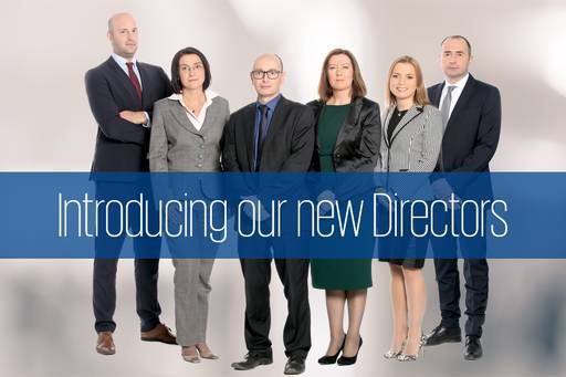Congratulations to our new Directors