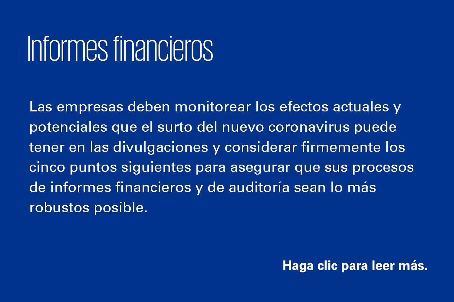 Informes financieros