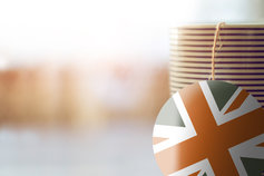 Brexit cup of tea union jack