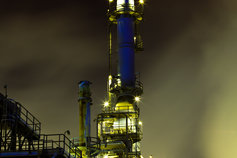 chemicals plant night time