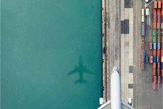 top view of airplane