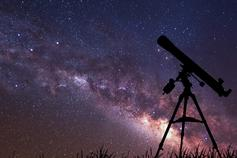 telescope starry night sky