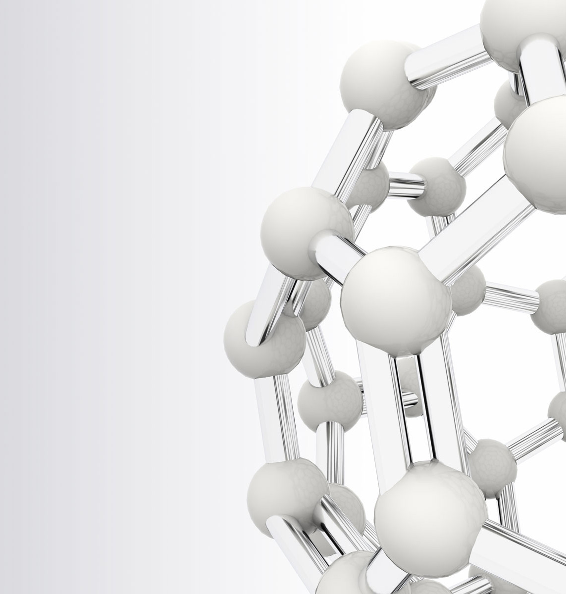 White molecules as a symbol for our Clarity on Healthcare