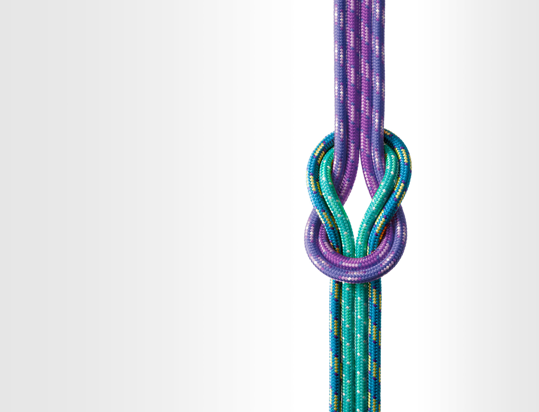 colorful tied ropes