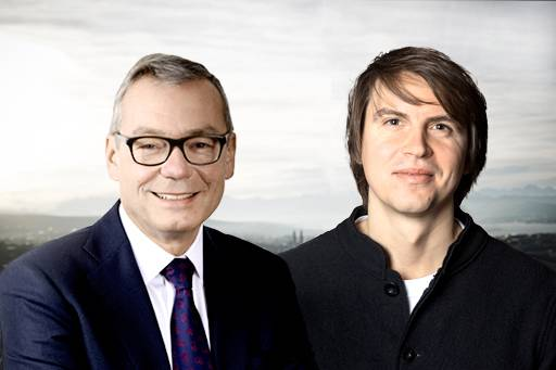 Farmy: Board member Ruedi Noser together with co-CEO and founder Roman Hartmann
