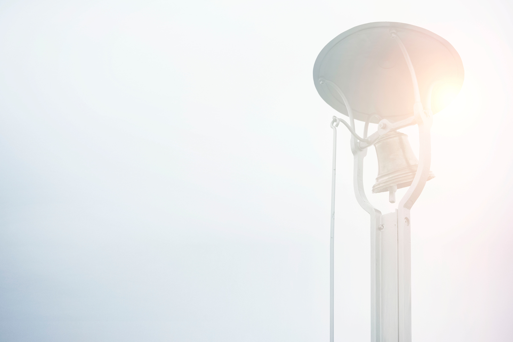 foggy bell with a sunny background