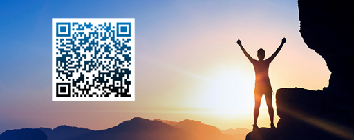 sunrise background with QR code