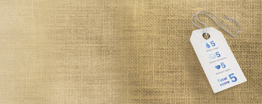 quality assurance tag on linen