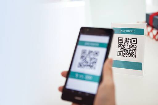 Scanning QR code with a mobile phone