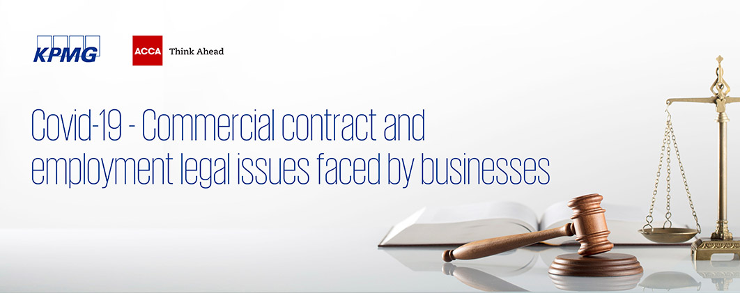 Covid-19 - Commercial contract and employment legal issues faced by businesses