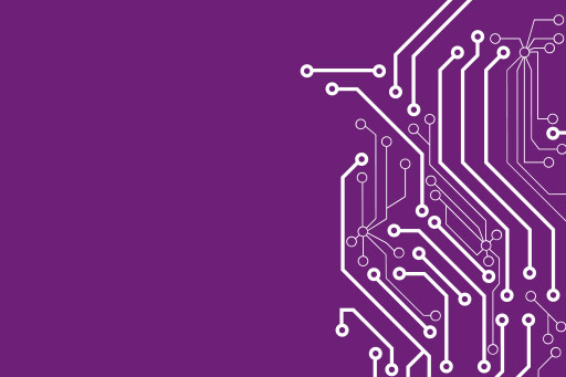Connections on a purple background