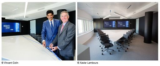John Veihmeyer, Président de KPMG International & Jay Nirsimloo, Président de KPMG France, inaugurant l'Insights Center de KPMG France à la Tour Eqho (Paris La Défense)