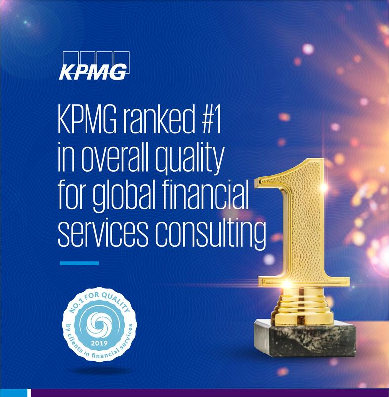 KPMG ranked top for quality in Financial Services