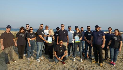 Beach Clean Up - KPMG volunteers