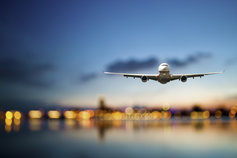 Plane with bokeh background