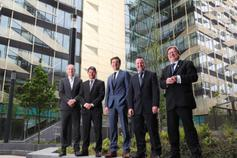 Pictured at The launch of The KPMG Irish Independent Property Industry Excellence Awards 2018 were L- R Enda Gunnell – Chief Executive Officer at PINERGY, Sean Twomey – Partner, Head of Property & Construction at Eugene F. Collins Solicitors, Jim Clery – Tax Partner and Head of Real Estate at KPMG, Paul Muldoon – Display Classified Manager at INM and Professor Brian Norton – President, DIT.