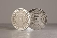 FinTech - coins standing on edge