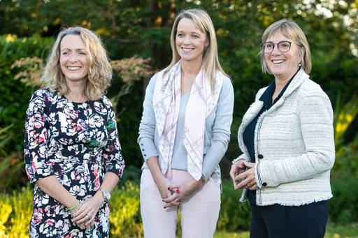 Call is opened for Going for Growth programme aimed at ambitious female entrepreners. Pictured are (l-r) Olivia Lynch, Partner KPMG; Mary O'Brien, CEO videoDoc; Julie Sinnamon, CEO Enterprise Ireland