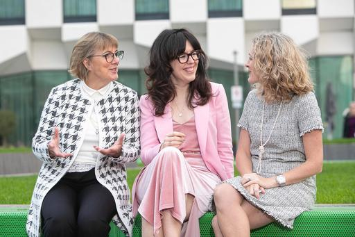 Julie Sinnamon, CEO Enterprise Ireland, Chupi Sweetman, Founder Chupi Jewellery, Olivia Lynch, Partner KPMG