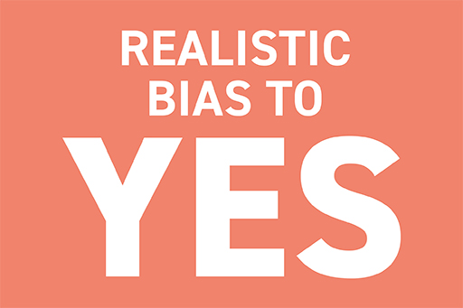 How did a bias towards yes support change?