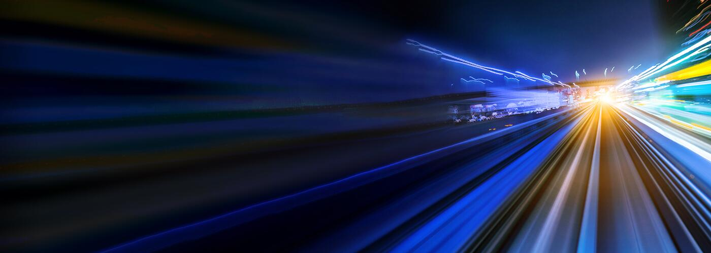 blue-and-yellow-lights-on-a-road