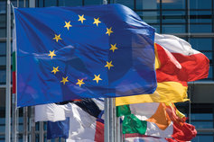 EU and other nations' flags
