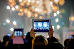 recording fireworks with tablet