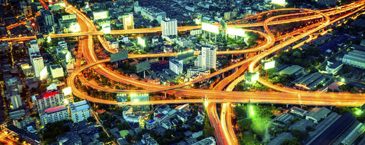 Bangkok motorway top view