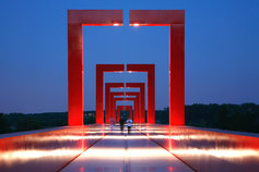 Red Maze Walk way
