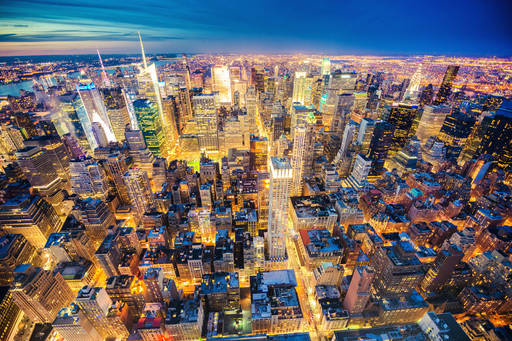 Aerial view of New York midtown