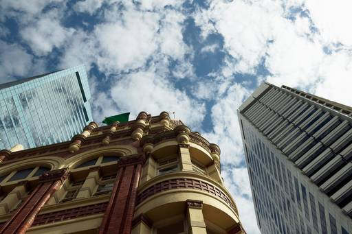 Low angle view of a buildings in Sydney, Australia